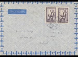 Finnland: 1957: Luftpostbrief nach England