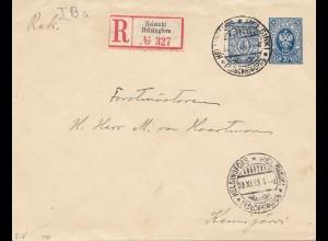 Finnland: 1913: Einschreiben Helsinki