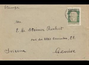 Fiume: 1923: Brief nach Genf/Schweiz