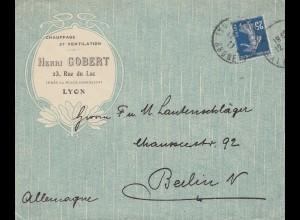 Frankreich: 1935 Lyon nach Berlin