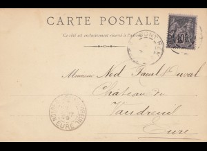 Frankreich: 1899: Carte postale Abbeville