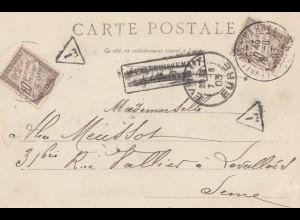 Frankreich: 1903: Carte postale Evreux