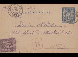 Frankreich: 1889: Charentens nach Paris