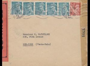 Frankreich: 1944: Paris nach USA - Zensur 2x