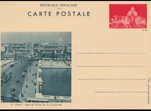 Frankreich: Ganzsache Paris