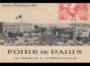 Frankreich: 1942: Foire de Paris - Section Philatelique
