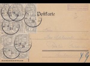 Frankreich: 1920 Bischweiler nach Berlin
