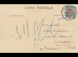 Frankreich: 1911: Ansichtskarte Grignan in die Schweiz - Nachporto