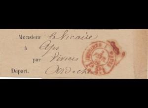 Frankreich: 1883: Streifband