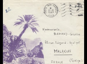 Frankreich: 1961: Poste aux Armees nach Malakoff