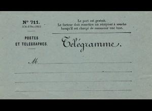 Frankreich: Telegramme Formular