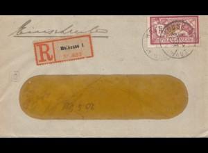 Frankreich:1921 Einschreiben Mulhouse nach Berlin: Deutsche Zensur