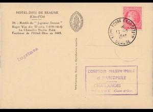 Frankreich: 1949: Ansichtskarte Hotel-Dieu De Beaune