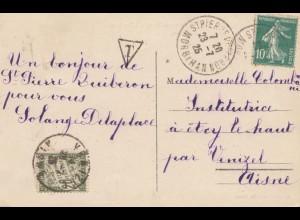 Frankreich: 1925: Ansichtskarte Quiberon