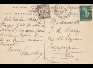 Frankreich: 1912: Ansichtskarte Kantara nach Frankreich