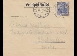 Frankreich: 1914: Feldpostbrief Tresoret Rostes