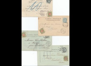 Frankreich: 1903-1905; 4 Ansichtkarten: Nancy, Lille, St. Denis, St. Cloud