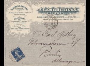 Frankreich: 1909: St. Sulpice nach Berlin