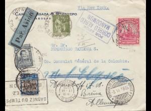 Frankreich: 1935: Luftpost von Paris nach Deutschland über USA Consulat Columbie