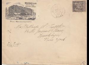 Frankreich: 1892: Marseille nach USA