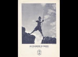 Frankreich: Ansichtskarte Les Eclaireurs de France
