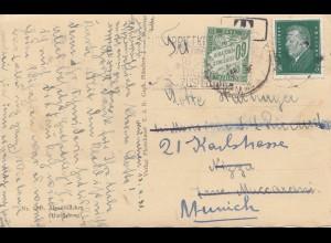Frankreich: 1931: Karte München-Nizza und zurück