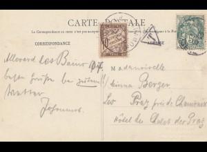 Frankreich: 1907: Ansichtskarte nach Prag