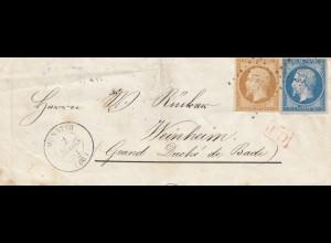Frankreich: 1861: nach Weinheim