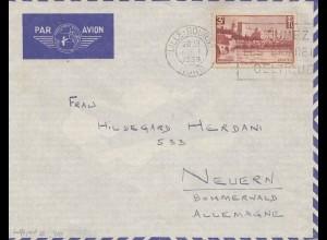 Frankreich: 1939: Lufptost von Lille-Bours nach Neuern/Deutschland