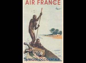 Frankreich:1956: Ansichtskarte Air France - Afrique Occidentale nach Deutschland