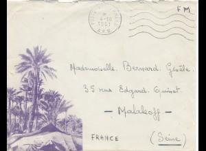 Frankreich:1961: Postes aux Armees nach Malakoff