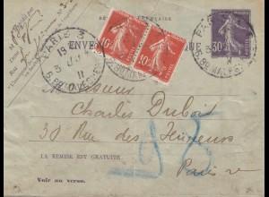 Frankreich:1911: Brief von Paris