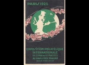 Frankreich:1925: Exposition Philatelique Paris nach Niederlande