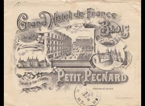 Frankreich: 1905: Petit-Pecnard - Hotel de France nach USA