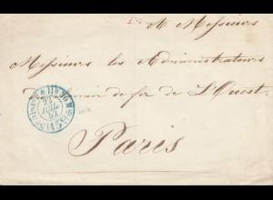 Frankreich: 1852: Brief nach Paris