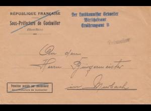 Frankreich: Guebwiller: Landkommissar nach Murbach