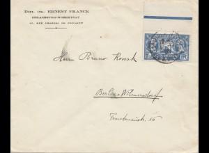 Frankreich: 1920: Strasbourg-Robertsau nach Berlin