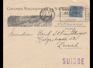 Frankreich: 1932: Samaritaine Paris nach Zürich