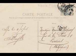 Frankreich: 1906: Ansichtskarte Lyon PERFIN