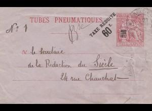 Frankreich: Ganzsache RU 2II, Taxe Reduits