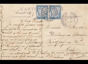 Frankreich: 1908: Ansichtskarte von Craon