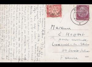 Frankreich: 1937: Ansichtskarte Köln nach Frankreich - Taxe