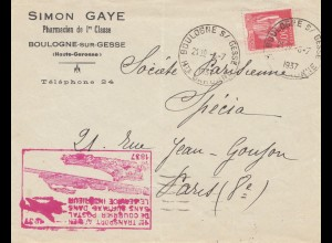 Frankreich: 1937: Boulogne-sur-Gesse nach Paris