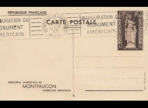 Frankreich: 1937: Montfaucon Ganzsache