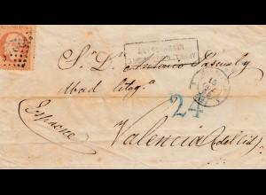 Frankreich: 1856: Brief nach Valencia