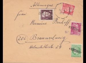 Frankreich: 1949: Brief nach Braunschweig
