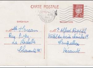 Frankreich: 1942: Carte Postale