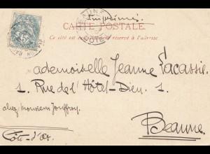 Frankreich: 1904: Ansichtskarte Bagneres