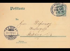 Frankreich: 1906: Bahnpost Strasbourg - Molsheim