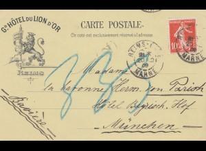 Frankreich: 1909: Reims nach München